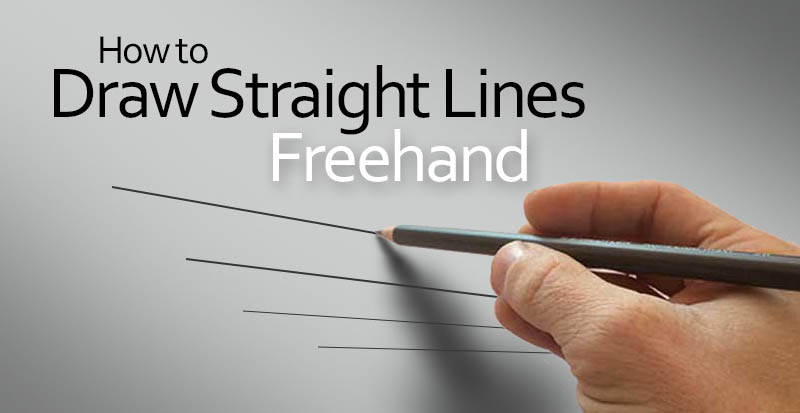 How to draw straight lines freehand without a ruler